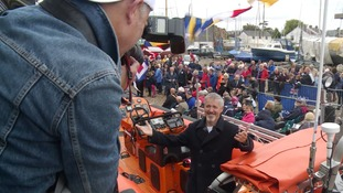 Griff Rhys Jones launches new Essex lifeboat