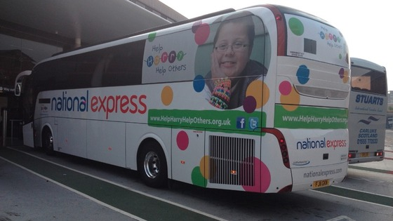 The coach is en-route to London where Harry Moseley&#x27;s mother will carry the Olympic Torch