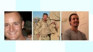 Cpl James Dunsby, L/Cpl Edward Maher, L/Cpl Craig Roberts