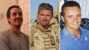 Lance Corporal Edward Maher, Corporal James Dunsby and Lance Corporal Craig Roberts.