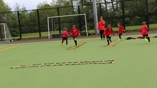 Pupils completed sprints and shuttle runs throughout the morning