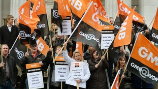 The GMB union has protested government cuts in the past