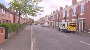 Police search in Canterbury Road, Byker
