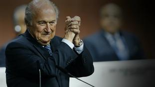 Sepp Blatter announced his resignation today