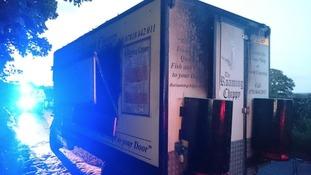Neighbours told owner Karol Ciachera the van was emitting smoke
