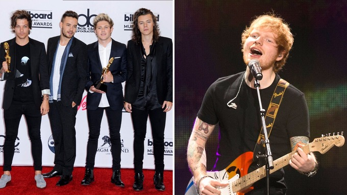 British musicians including One Direction and Ed Sheeran account for ...