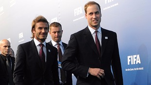 David Beckham was part of the England Fifa World Cup bid team with prince William in 2010.