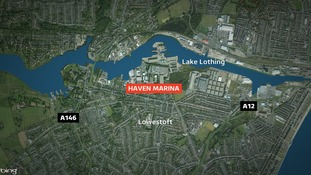 A member of the public reported seeing the body floating on the water at the Haven Marina earlier this morning.