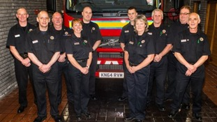 Members of the Moffat crew with the new appliance