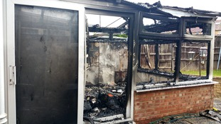 James and Michelle Barrow's house was gutted on Monday.