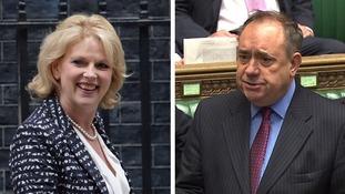 Alex Salmond called Anna Soubry 'demented'