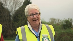 woman in hi-viz jacket