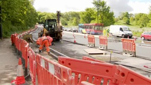 The roadworks in Lincoln