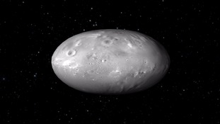An artist's representation of Pluto's moon Nix