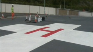 When it is not in use, the H will be covered with the no fly signal.