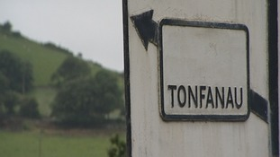 Tonfanau camp sign