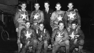 The Norwich Speedway team pictured in 1950