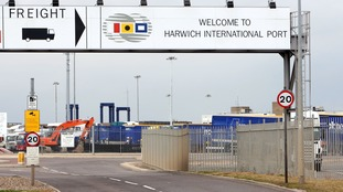 Sixty eight people were found on four lorries at Harwich International Airport