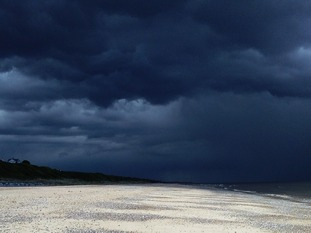 A storm over Scratby beach near Great Yarmouth in Norfolk on Friday 5 June 2015.