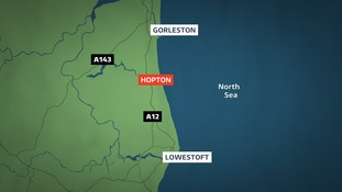 The woman was rescued about 200m away from Hopton beach.