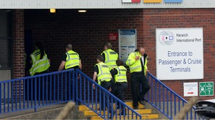 Border Force officials continue to question the suspected illegal immigrants found at Harwich International Port