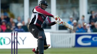 Chris Gayle has scored 328 runs after just three matches with Somerset.