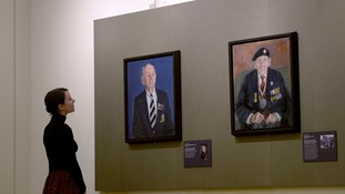 Portraits of Sergeant Thomas Burke by James LLoyd (left) and Trooper Cecil Newton by Peter Kuhfield