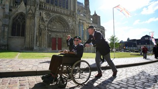 Ceremonies are being held in Arromanches and Bayeux.