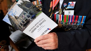 'We thank you from the bottom of our hearts', veterans at the service were told.