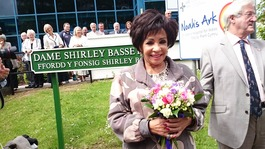 Dame Shirley Bassey honoured for hospital charity work