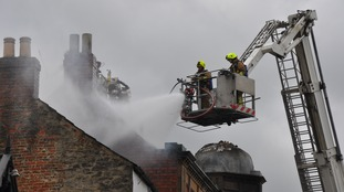 Firefighters tackled the blaze in Richmond this morning.