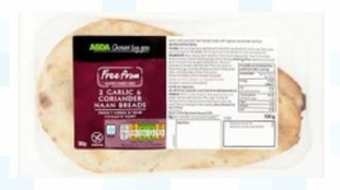 Asda's gluten-free garlic and coriander naan