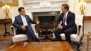 Prime Minister David Cameron met the Republican candidate for US president Mitt Romney