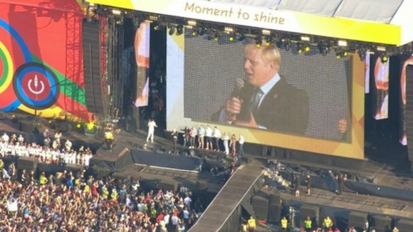 Boris Johnson telling Hyde Park, and the world, London will host the &#x27;best-ever&#x27; Games 