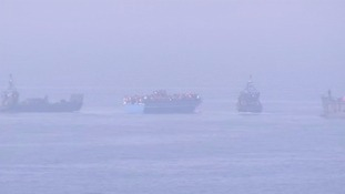 At least four vessels are said to be in distress.