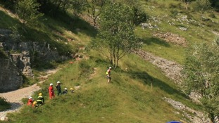 Boy in hospital after 30ft fall down Cheddar Gorge
