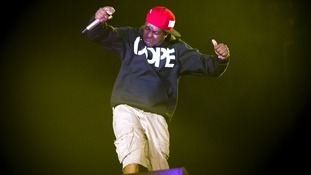 Dizzee Rascal headlined the Hyde Park concert.