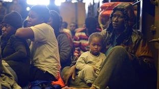 migrants hms bulwark