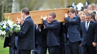 PC David Rathband's coffin