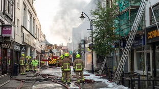 Maidstone town centre fire - in pictures