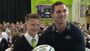 Rhys Hamber after his World Cup surprise from George North from Northampton Saints