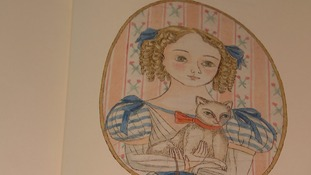 The illustrations were taken from the young princess's paper doll creations