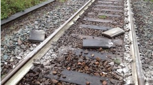 Debris found on railway lines