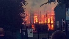The adventure playground in Southmead was engulfed by flames