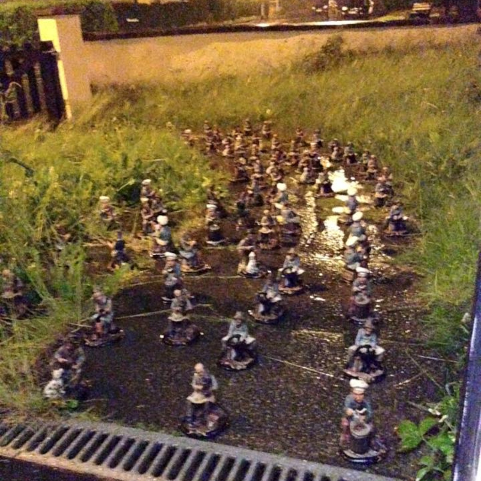 Police investigate after woman wakes up to find 107 gnomes in front ...