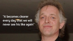 Fans pay tribute to Rik Mayall one year on from his death