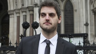 Accountant Paul Chambers leaves the High Court in London.