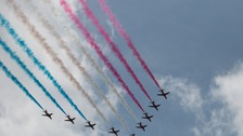 The famous red arrows will be the stars of the show at RAF Cosford Air Show
