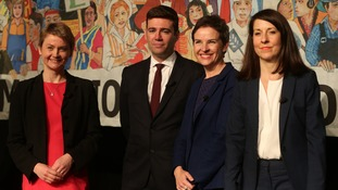 Labour leadership contenders Yvette Cooper, Andy Burnham, Mary Creagh and Liz Kendall.