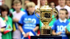 The Webb Ellis Trophy, which is presented to the winners of the Rugby World Cup.